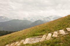 Panorama de la montagne photos libres de droits