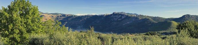 Panorama de la naturaleza italiana Fotos de archivo