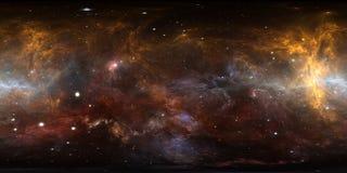 panorama de la nebulosa del espacio de 360 grados, proyección equirectangular, mapa del ambiente Panorama esférico de HDRI Fondo  libre illustration