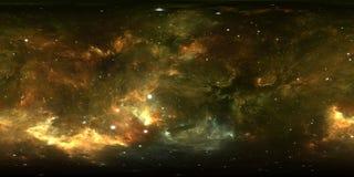 panorama de la nebulosa del espacio de 360 grados, proyección equirectangular, mapa del ambiente Panorama esférico de HDRI Fondo  ilustración del vector