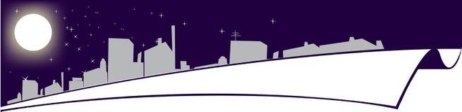Panorama de la noche ilustración del vector