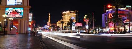 Panorama de la noche de la tira de Las Vegas Fotografía de archivo