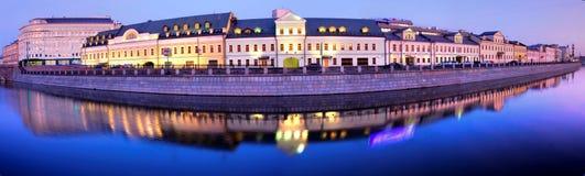 Panorama de la noche de Moscú Imagen de archivo libre de regalías