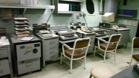 Panorama de la oficina del acorazado metrajes