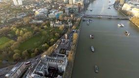 Panorama de la opinión del tejado de Londres Lambeth Imágenes de archivo libres de regalías