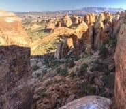 Panorama de la parte posterior del arco del paisaje Imagen de archivo libre de regalías