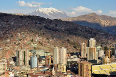 Panorama de La Paz, Bolivia Foto de archivo