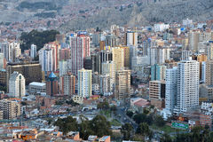 Panorama de La Paz, Bolivia Imagen de archivo libre de regalías