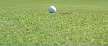 Panorama de la pelota de golf Imagenes de archivo