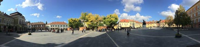 Panorama de la place de Dobo Photo stock