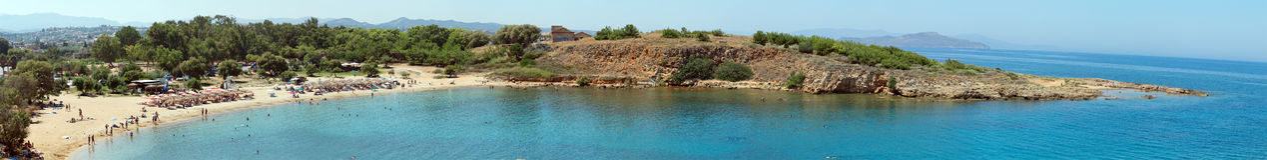Panorama de la plage Photo libre de droits