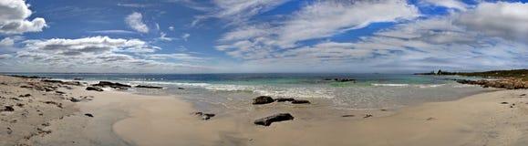Panorama de la playa foto de archivo