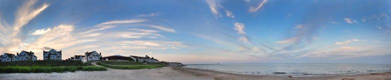 Panorama de la playa Imágenes de archivo libres de regalías