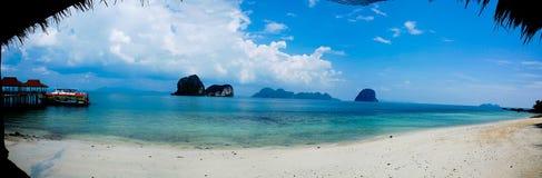 Panorama de la playa Fotografía de archivo libre de regalías