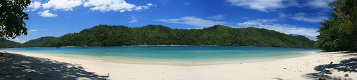 Panorama de la playa Imagenes de archivo