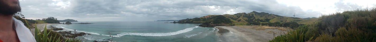 Panorama de la playa Imagen de archivo libre de regalías
