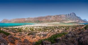 Panorama de la playa de Balos, Creta, Grecia imagen de archivo libre de regalías