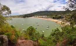 Panorama de la playa de Kaiteriteri, Nueva Zelandia Imagen de archivo