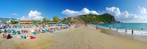 Panorama de la playa de Kleopatra Imagen de archivo