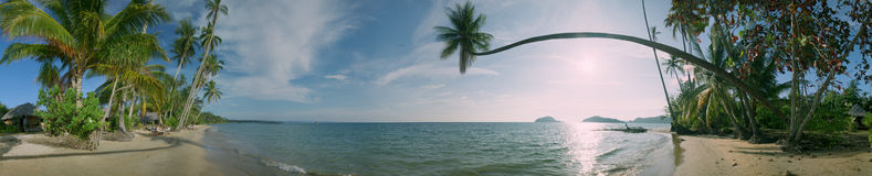 Panorama de la playa del Mak de la KOH Imágenes de archivo libres de regalías