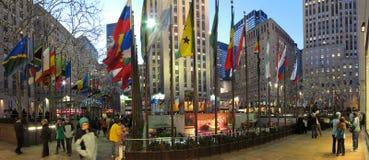 Panorama de la plaza de Rockefeller Fotografía de archivo libre de regalías