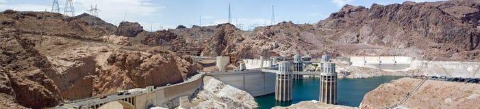Panorama de la presa de Hoover imagen de archivo libre de regalías