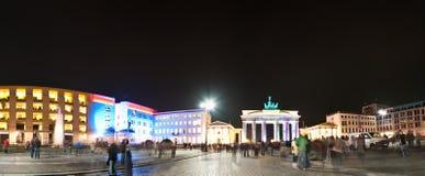 Panorama de la puerta de Brandenburgo Fotos de archivo
