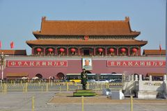 Panorama de la puerta de Tiananmen Imagen de archivo libre de regalías