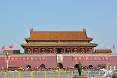 Panorama de la puerta de Tiananmen Imagen de archivo