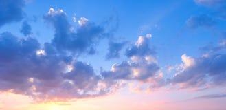 Panorama de la puesta del sol fotos de archivo libres de regalías