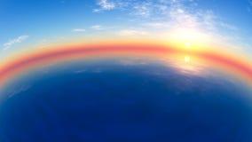 Panorama de la puesta del sol Fotografía de archivo libre de regalías