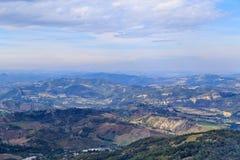Panorama de la république de San Marino et de l'Italie de Monte Titano Photos libres de droits
