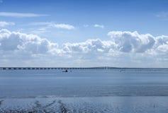 Panorama de la rivière le Tage - Lisbonne Images stock