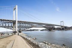Panorama de la saison de Pont De Québec au printemps photos libres de droits