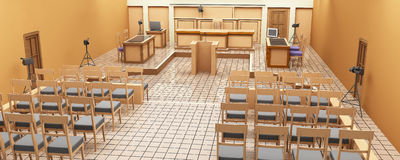 Panorama de la sala de tribunal Imagenes de archivo