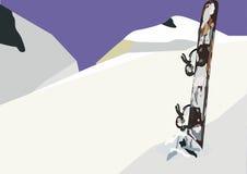 Panorama de la snowboard Fotografía de archivo libre de regalías