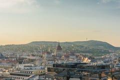 Panorama de la tarde de Budapest Fotografía de archivo libre de regalías