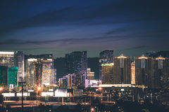 Panorama de la tira de Las Vegas fotografía de archivo