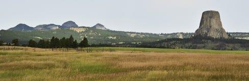 Panorama de la torre del diablo Imagen de archivo libre de regalías