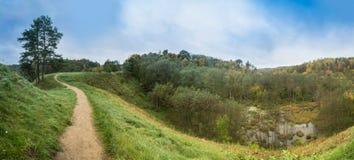 Panorama de la trayectoria de la montaña Imagen de archivo