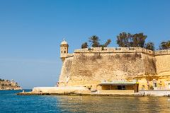 Panorama de La Valeta Malta 2013 Fotos de archivo libres de regalías