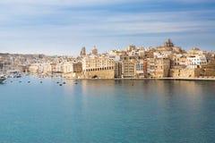 Panorama de La Valeta, Malta foto de archivo