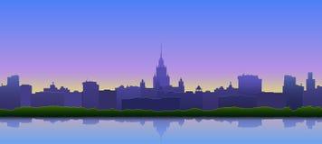 Panorama de la ville illustration libre de droits