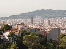 Panorama de la ville de Barcelone à partir du dessus photo stock
