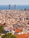 Panorama de la ville de Barcelone à partir du dessus photos libres de droits
