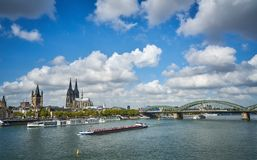 Panorama de la ville Cologn, Allemagne photos stock