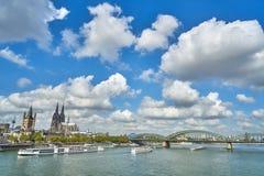 Panorama de la ville Cologn, Allemagne photographie stock