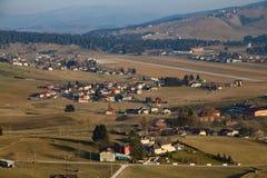 Panorama de la ville d'Asiago dans la province de Vicence dedans ni Images stock