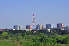 Panorama de la ville de Lublin en Pologne Images libres de droits