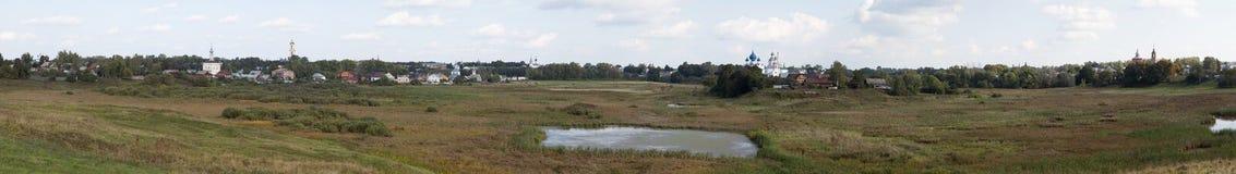 Panorama de la ville de Suzdal Russie Images stock